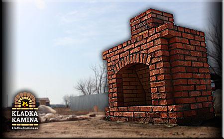 Кирпичный Камин в Кировской