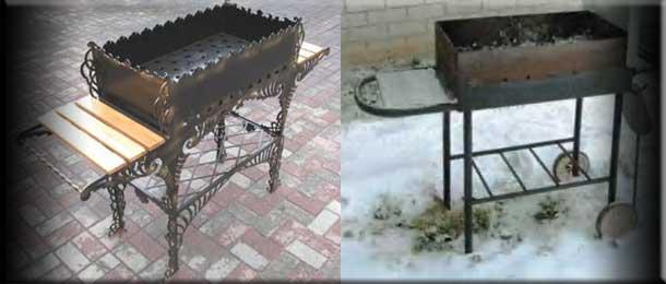 Передвижной барбекю из металла