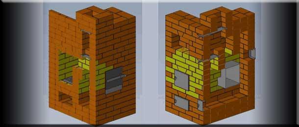Печь-каменка простой конструкции