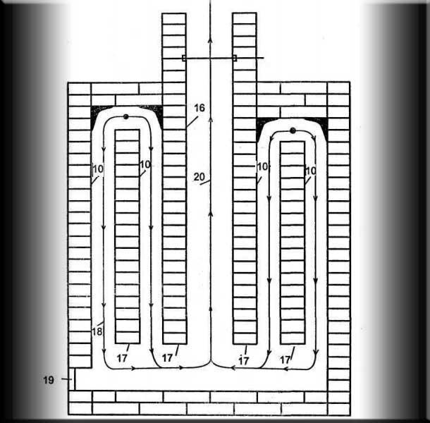 Схема коптильни  холодного копчения 139