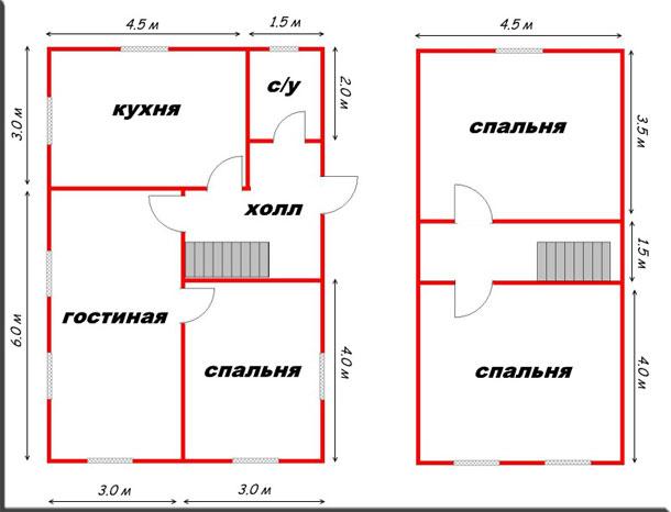 Баня с летней кухней 9х6