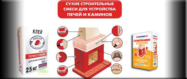 Термостойкий клей для печей и каминов