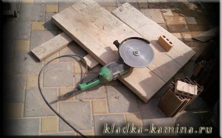 Как резать кирпич для мангала