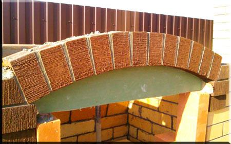 Кирпичная кладка арки печи для барбекю своими руками 46