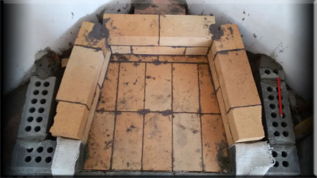 Установка углового  камина